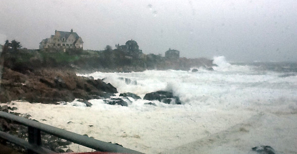 Photo courtesy of  Melissa Dolan. The Back Shore in Gloucester on Monday during Hurricane Sandy.