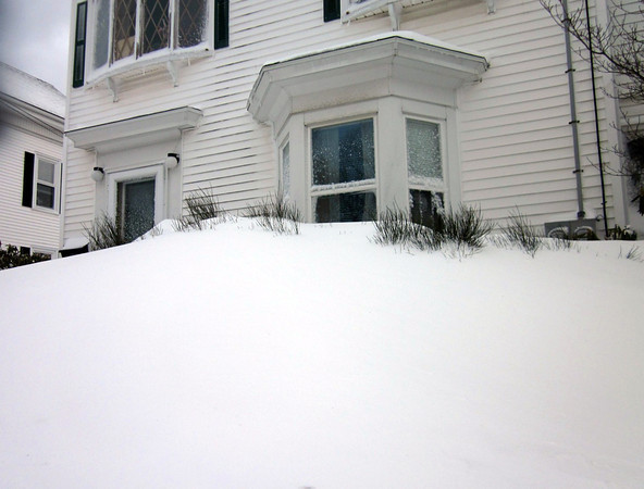 Photo Courtesy Julie Cleveland/Gloucester Daily Times. The view on Exchange Street during the snow storm on Saturday.