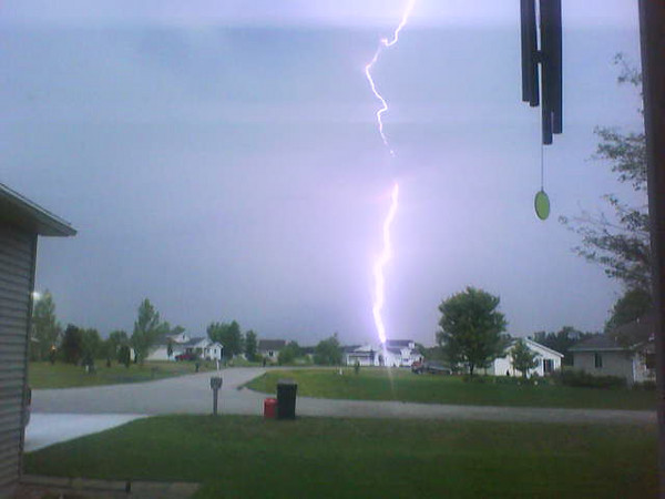 <b>Submitted By:</b> Reagan Camden <b>From:</b> Traverse City  <b>Description:</b> This is a storm that went through a couple weeks ago and I got several shots of lightning from my front window.
