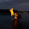 Light stick painting, July 4, 2012, Lake Ann<br /> <br /> Photographer's Name: Laurie Lavrack<br /> Photographer's City and State: Lake Ann, MI