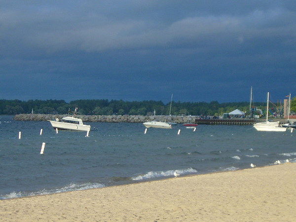 <b>Submitted By:</b> MJ Kroesch <b>From:</b> Traverse City <b>Description:</b> Grand Traverse Bay w/boats before storn during Cherry Festival 2009.