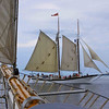 <b>Submitted By:</b> Peggy Zinn <b>From:</b> Traverse City <b>Description:</b> Taken durning Madeline's first sail of the season, the chase is on!