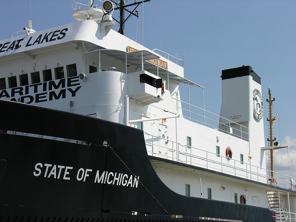 """<b>Submitted By:</b> Tim Bell <b>From:</b> Traverse City, MI <b>Description:</b> The Ship """"State of Michigan"""" at Maritime Academy, July, 2010."""