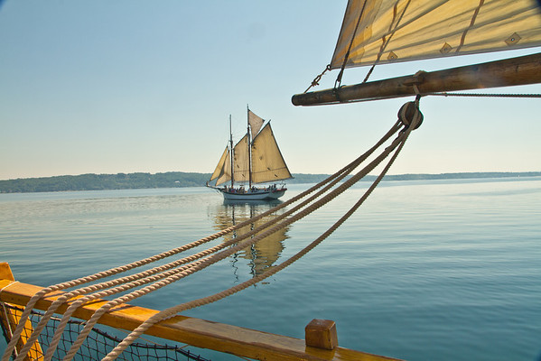 <b>Submitted By:</b> Peggy Sue Zinn <b>From:</b> Traverse city <b>Description:</b> Manitou shot through the Welcome's rigging