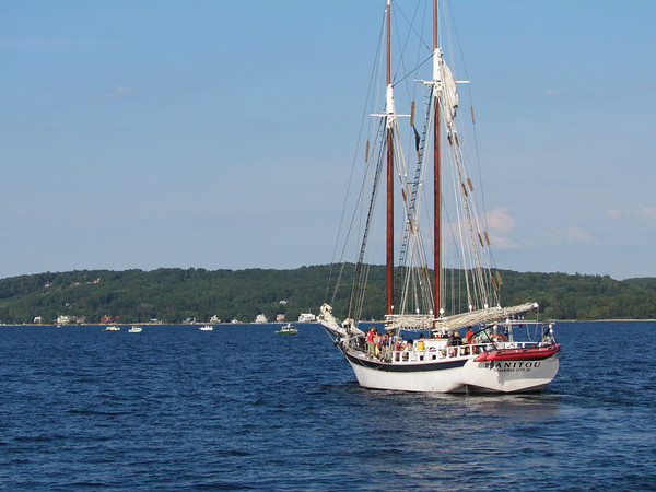 <b>Submitted By:</b> Frederic Messick <b>From:</b> Traverse City <b>Description:</b> Maritime Heritage Alliance Day, 2011 Photo taken from breakwater at Clinch Marina in Traverse City.