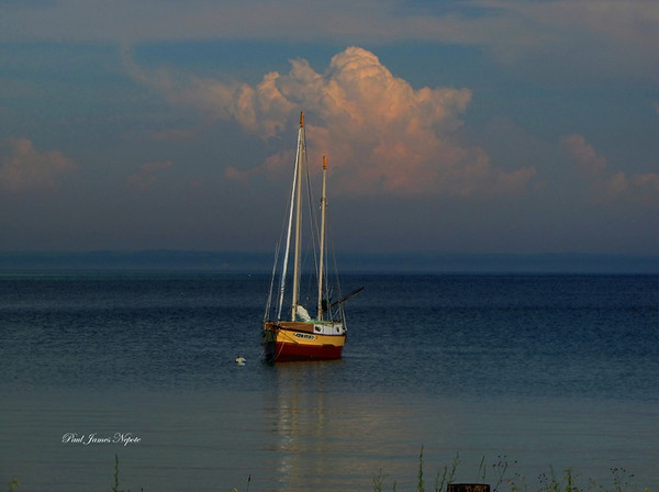 Submitted By: Paul J Nepote From: Traverse City, Michigan Description: Sailboat on Old Mission Bay Photo Taken in July 2009 Enhanced using HDR