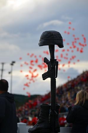 Sept 11 Patriot Game Dedication 2015.  Traverse City<br /> <br /> Photographer's Name: John Eschelweck<br /> Photographer's City and State: Interlochen, MI