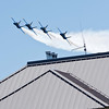 <b>Submitted By:</b> Peggy Zinn <b>From:</b> Traverse City <b>Description:</b> Blue Angels coming over the top of Maritime Acedemy