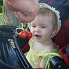 <b>Submitted By:</b> Anna Castro <b>From:</b> Traverse City <b>Description:</b> Jeanne Bodary, 10 months old at her first Cherry Festival fascinated with the fresh cherries.