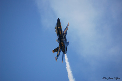 July 4th, 2008 Blue Angel Over National Cherry Festival Nikon D50  Paul J Nepote Traverse City, Michigan