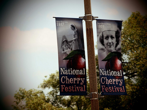 <b>Submitted By:</b> Jason Gatti <b>From:</b> Highland Michigan <b>Description:</b> Cherry Festival banners. Traverse City, Sunday July 11th