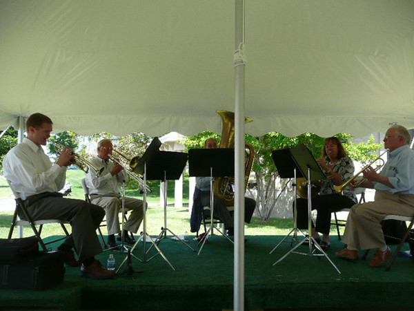 <b>Submitted By:</b> Larry Sam <b>From:</b> Traverse City, MI <b>Description:</b> brass concert at GTPavillions under the tent, 7/8/09