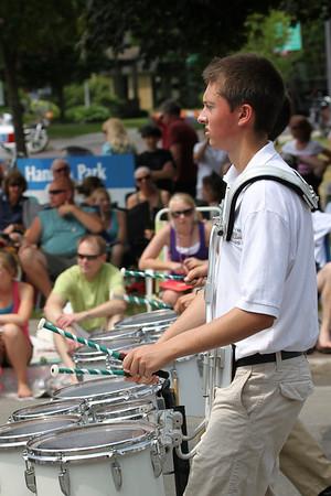 <b>Submitted By:</b> Richard Smith <b>From:</b> Traverse City <b>Description:</b> Trojan / Titan Drum Line Cherry Royal Parade 2011