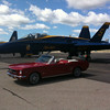 "<span style=""display:none"">Email: zebrabob@aol.com</span> <b>Submitted By:</b> Rob Benett <b>From:</b> Beulah <b>Description:</b> My 1966 Ford Mustang on the flight line with Blue Angel #5 at the Coast Guard station."
