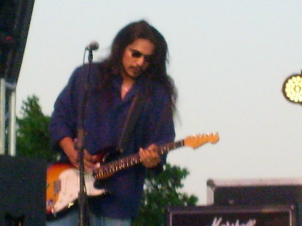 <b>Submitted By:</b> Dona Hudson <b>From:</b> Kingsley <b>Description:</b> Los Lonely Boys at the Cherry Fest 7/3 rockin' the night for all