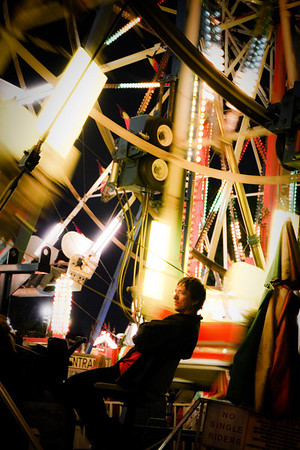 <b>Submitted By:</b> Todd L Church <b>From:</b> Interlochen <b>Description:</b> Ride operator on the Midway at the National Cherry Festival