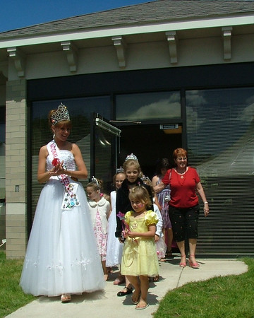 <b>Submitted By:</b> Diane Budzynowski <b>From:</b> Traverse City <b>Description:</b> The Cherry Queen leads a parade of princesses at the Princess Tea held at the Grand Traverse Pavillions on  Monday, July 6th