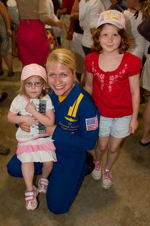 <b>Submitted By:</b> Peggy Zinn <b>From:</b> Traverse City <b>Description:</b> A Blue Angels make a huge impact on little girls who dream big