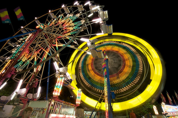 <b>Submitted By:</b> Jason Lome <b>From:</b> Traverse City <b>Description:</b> Last spin of the night.  Ferris Wheel, Thursday evening.