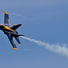 <b>Submitted By:</b> Peggy Zinn <b>From:</b> Traverse City <b>Description:</b> Blue Angels with a Little Vapor trail