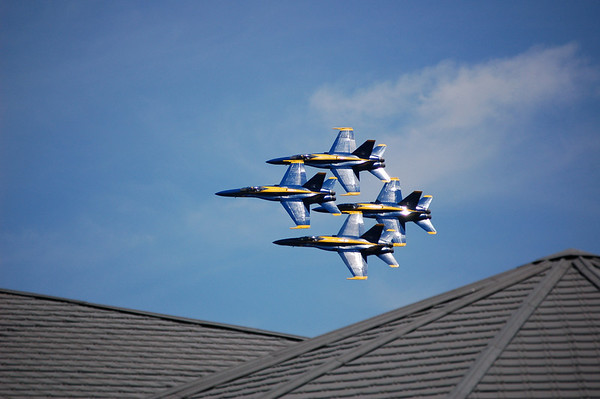 Blue Angels Over The Traverse Area District Library<br /> July 5th, 2008<br /> Paul J Nepote<br /> Traverse City, Michigan<br /> Nikon D50