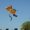 "2008 Cherry Festival Photo of the Army Parachutist landing on the ""Open <br /> Space""<br /> <br /> By Michael E. Felton, Traverse City"