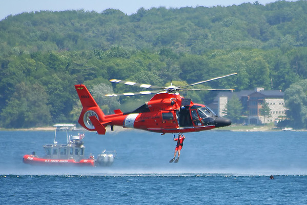 This was taken of the Coast Guard Deomostration durning Cherry Festival 2008 <br /> by Peggy Zinn of Traverse city