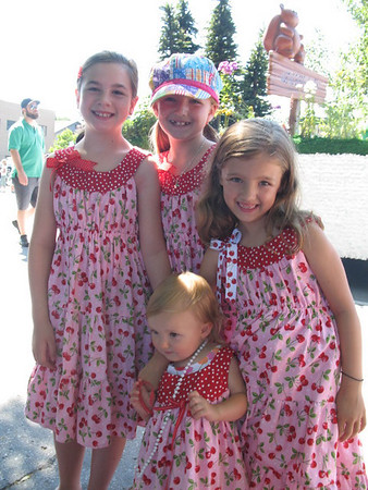 "<span style=""display:none"">Email: jkvanbrocklin@charter.net</span> <b>Submitted By:</b> Kay VanBrocklin <b>From:</b> Traverse City, Michigan <b>Description:</b> My granddaughters all dressed in identical cherry outfits to enjoy the Grand Royale Parade. Lily, Kelby, Kate and in front Claire VanBrocklin"