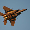 F15 durning sunset airshow over Grand Traverse Bay 2008 by Peggy Zinn of <br /> Traverse City