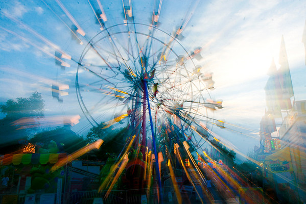 <b>Submitted By:</b> Todd L Church <b>From:</b> Interlochen <b>Description:</b> Ferris wheels at the midway