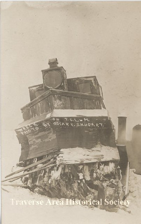 <b>Submitted By:</b> MOLLY CARROLL SHUGART <b>From:</b> TRAVERSE CITY <b>Description:</b> Another shot of train wreck in Bingham, taken by grandfather Oscar Shugart.