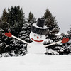 <b>Submitted By:</b> Richard S. Forton <b>From:</b> Traverse City <b>Description:</b> The creative gift of a snowman on West Silver Lake Road every year.