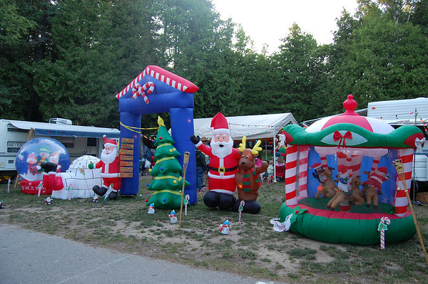 Christmas in July at the Straits State Park Campground.<br />  <br /> Ben Roberts<br /> Charlotte North Carolina