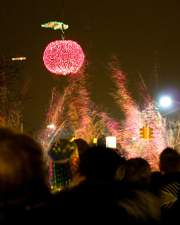 <b>Submitted By:</b> Helen Denoyer <b>From:</b> Traverse City <b>Description:</b> Cherry Drop and Firworks New Years Eve 2010