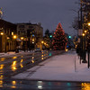 <b>Submitted By:</b> Helen Denoyer <b>From:</b> Traverse City <b>Description:</b> Reflections and Lights of the Christmas season. View from corner of State st. and Cass.