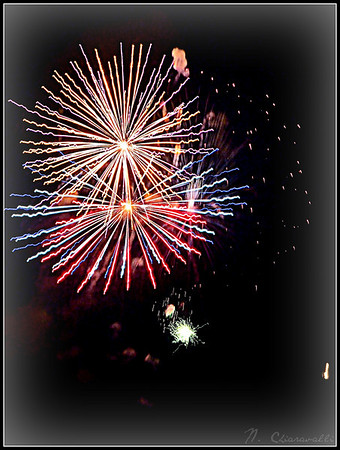 <b>Submitted By:</b> Nicole Chiaravalli <b>From:</b> Traverse City <b>Description:</b> 4th of July fireworks over the bay