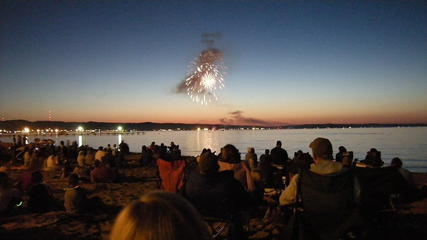 <b>Submitted By:</b> Gordon Huey <b>From:</b> Byram, Mississippi <b>Description:</b> I was born and raised in TC and I get my family back as much as possible.  These fireworks celebrated the 4th of July and kicked off the 2009 Cherry Festival.