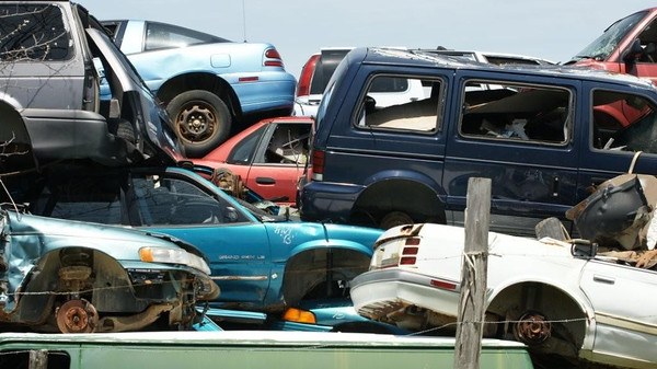 Thirteen Car Pile Up - (Count them !)<br /> <br /> John Novosad<br /> Houghton Lake