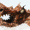 DRAGON FOSSIL FOUND !    This house high old rusty metal creature was<br /> made from some abandoned construction machine.<br /> <br /> John Novosad<br /> Houghton Lake