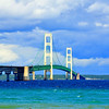 <b>Submitted By:</b> Steve Nowakowski <b>From:</b> Lambertville, MI. <b>Description:</b> The Mackinac Bridge taken in the summer of 2010 from the shoreline in Mackinaw City.