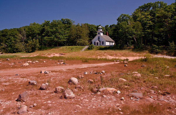 Old Mission Point Lighthouse on a calm summer day in 2013<br /> <br /> Photographer's Name: Steve Nowakowski<br /> Photographer's City and State: Lambertville, MI