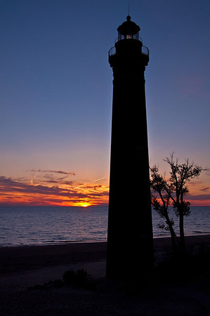 Sunset @ Little Sable Point Light<br /> <br /> Photographer's Name: Steve Nowakowski<br /> Photographer's City and State: Lambertville, MI