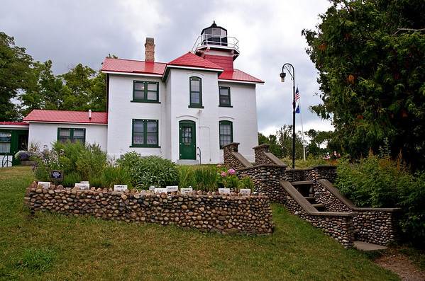 Grand Traverse Lighthouse on a calm summer day in 2013<br /> <br /> Photographer's Name: Steve Nowakowski<br /> Photographer's City and State: Lambertville, MI