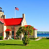 <b>Submitted By:</b> Steve Nowakowski <b>From:</b> Lambertville, MI. <b>Description:</b> Old Mackinac Point Light taken in the summer of 2010 located inside Fort Michilimacknac State Park in Mackinaw City, MI.