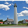 New Preque Isle Lighthouse on a calm summer day<br /> <br /> Photographer's Name: Steve Nowakowski<br /> Photographer's City and State: Lambertville, MI