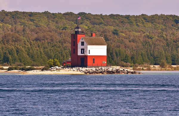 Passing Round Island Lighthouse on the way to Mackinac Island State Park<br /> <br /> Photographer's Name: Steve Nowakowski<br /> Photographer's City and State: Lambertville, MI