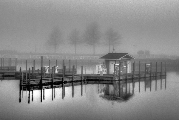 <b>Submitted By:</b> Jim Schoensee <b>From:</b> Central Lake, MI <b>Description:</b> Clinch Park Marina, Traverse City, May 2007. Foggy and misty afternoon.