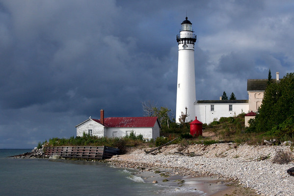 <b>Submitted By:</b> Sharolyn Hendrick <b>From:</b> Lake Ann <b>Description:</b> The lighthouse on South Manitou island. Taken 7 Sept. 2012