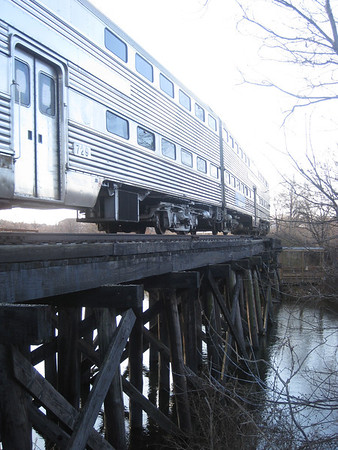 <b>Submitted By:</b> Kayla Kester <b>From:</b> Traverse City <b>Description:</b> Dinner train going over the trussel.