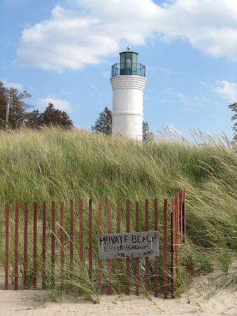 Lighthouse on Empire Beach<br /> <br /> Photographer's Name: Sherry Good<br /> Photographer's City and State: Interlochen, MI
